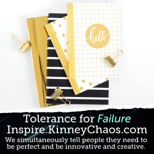 We simultaneously tell people they need to be perfect and be innovative and creative.