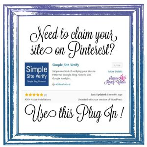 Claim website on pinterest using this plugin