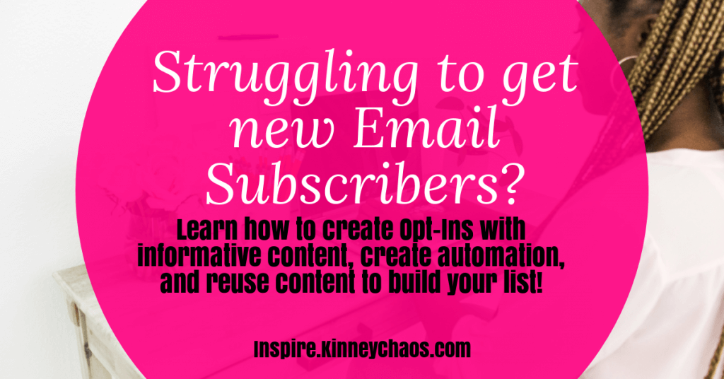 Learn how to create Opt-Ins with informative content, create automation, and reuse content to build your list!