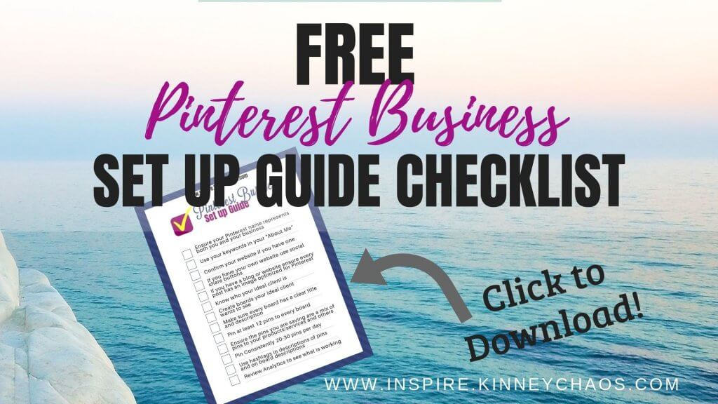 Free Pinterest Business Set Up Guide Checklist
