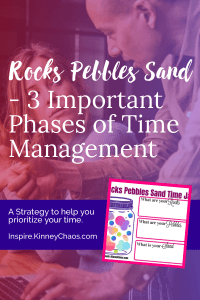 Time management is the biggest challenge next to mindset most entrepreneurs go through. Rocks Pebbles Sand is a method you can use to help you manage your time.