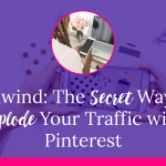Tailwind: The Secret Way to Explode Your Traffic with Pinterest Do you feel like you are pinning for nothing? Are you overwhelmed with all the different Social Media platforms? Want to be able to get something done in less than 20 minutes per day for your business? No worries, we have the answer for you, and it's Tailwind!