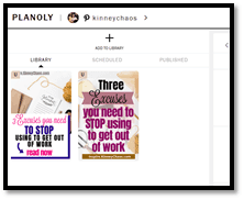Screenshot of unscheduled Pinterest pins using the new Planoly Pin Planner.