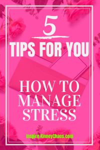 Stress is everywhere and learning how to manage stress is really the key to living a more positive life. It's near to impossible to reduce all stress from your life. Learn how to manage your stress with 5 easy tips you can use right away.