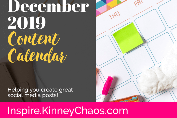 Do you struggle with knowing what to post on Social Media? Use our December 2019 Content Calendar to help you get all your posts done quick and easy!