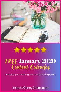 Get your January 2020 Content Calendar that will help you keep all your posts organized.