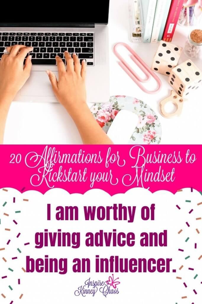 20 Affirmations for Business to Kickstart your Mindset 5