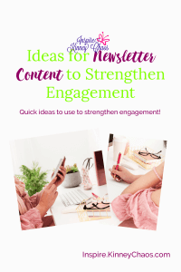 Everyone says to create a business newsletter. What they don't tell you is what to include. Read this list of ideas for newsletter content to help you!