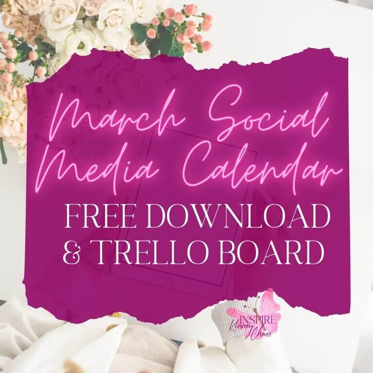 Ultimate March Social Media Calendar