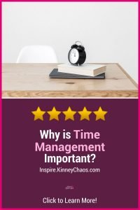 Learn about why time management is important to balancing personal, business, and life aspects. Learn to be in control.