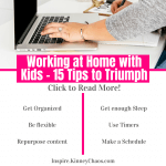 Working at home with kids doesn't have to be a trial of patience and tears. Let's figure out how to make it easier for both you and your kids.