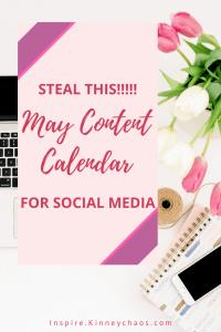 2021 May Content Calendar for Social Media 2