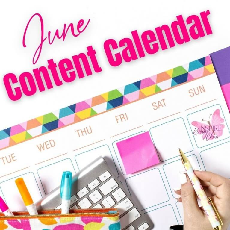 June Social Media Content Calendar