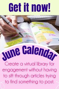 Save time and energy with a daily prompt June Social media content calendar to create inspiration for your business. Get ideas on how to post about your brand, in-depth captions, and help develop an engaging voice. Use this calendar as an opportunity to interact more with your audience by creating posts around the suggested topics like they do!