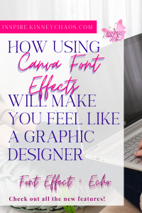 Canva Font Effects - Echo