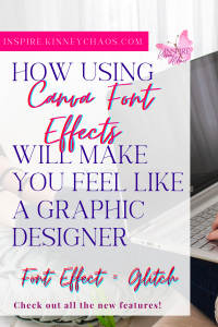Canva Font Effects - Glitch