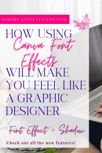 Canva Font Effects using the Neon Options