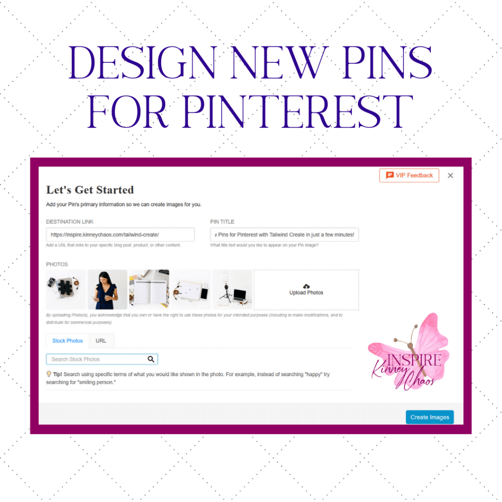 Design New Pins for Pinterest