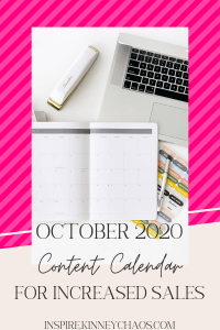 Pumpkin spice and all things nice (for fall that is) are back! That means it's time to start putting together your October 2020 Content Calendar.