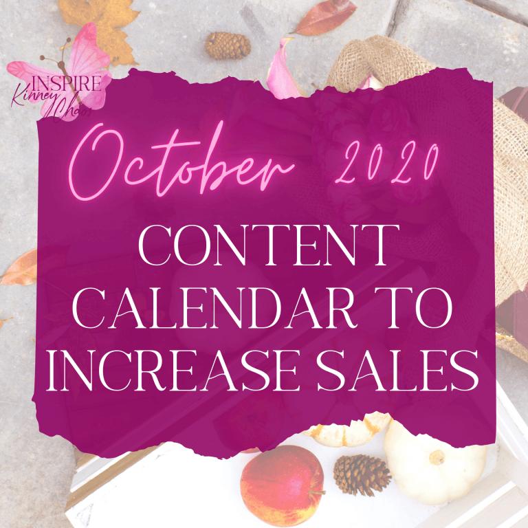 October Content Calendar to Increase Sales in 2021