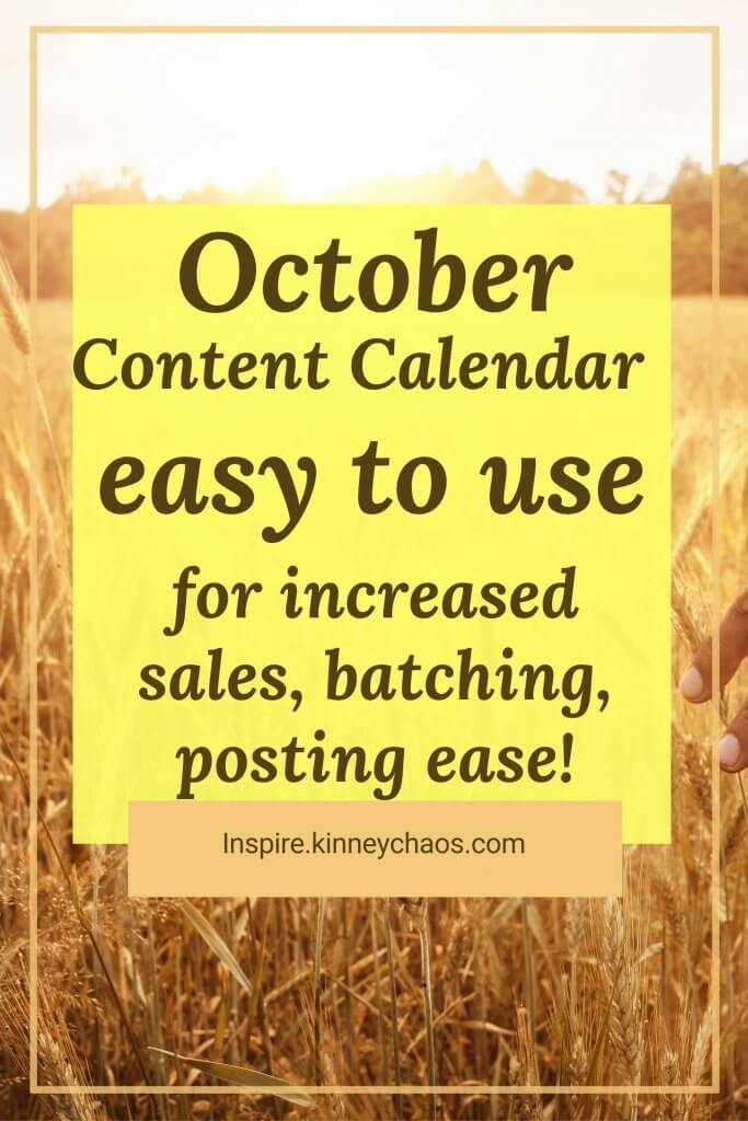 Pumpkin spice and all things nice (for fall that is) are back! That means it's time to start putting together your October Content Calendar.