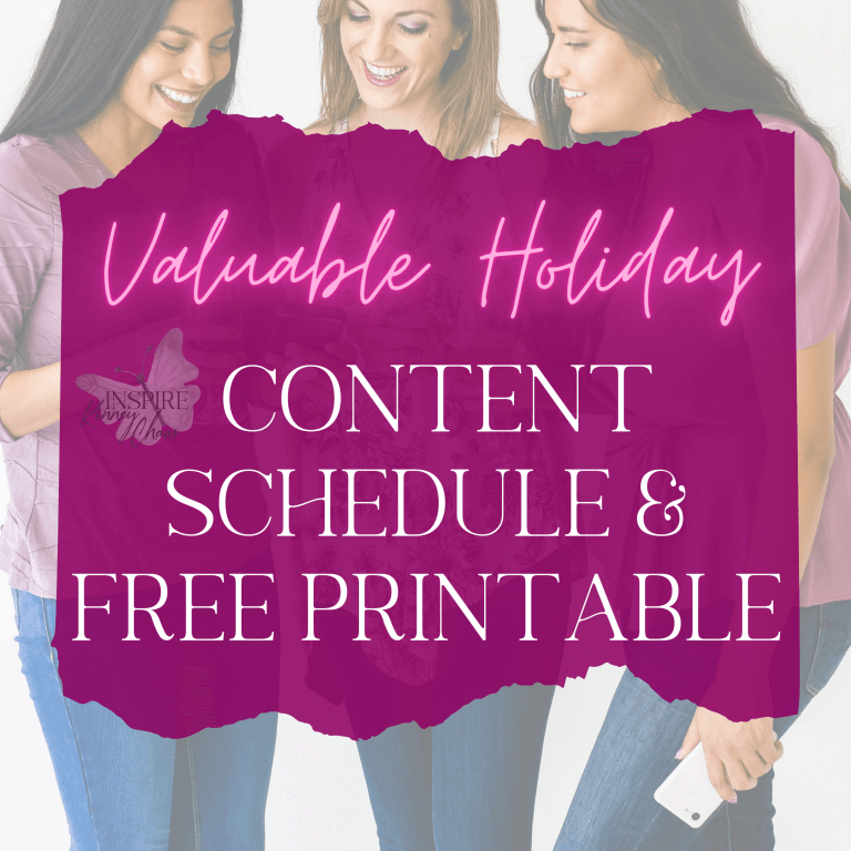 Valuable Holiday Content Schedule you need to use & FREE Printable
