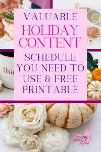 When you start out in business one of the hardest things to wrap your mind around is planning early for seasonal events or taking into account holiday business topics. That is why I came up with this basic holiday content schedule.