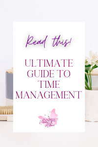 Life is busy all the time and working full time requires me to make the most of the time. That means breaking things down into easy to do tasks and being efficient at Time Management.