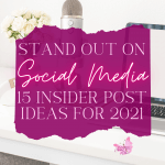 Are you feeling frustrated and upset about all the different channels you need to create posts for this week? I know thinking about my content strategy can leave me feeling anxious. Here are 15 post ideas you can use when you don't know what to post on social media.