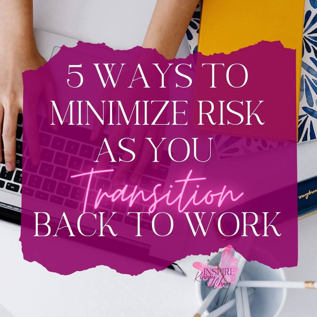 No matter why you are in the process of having to transition back to work, it's probably a little scary. Considering why you are about to embark on the office experience again can help you watch for certain risk factors. Let's chat about the most common ones and how you can minimize your anxiety.