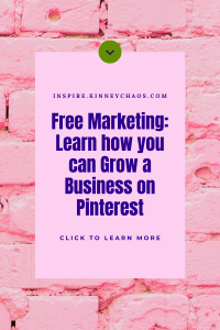 Starting a business is hard work. It's easy to get bogged down in the day-to-day and lose sight of the bigger picture, but there are so many things you can do to grow your business that doesn't require time or money! For example, Pinterest is a free marketing tool.