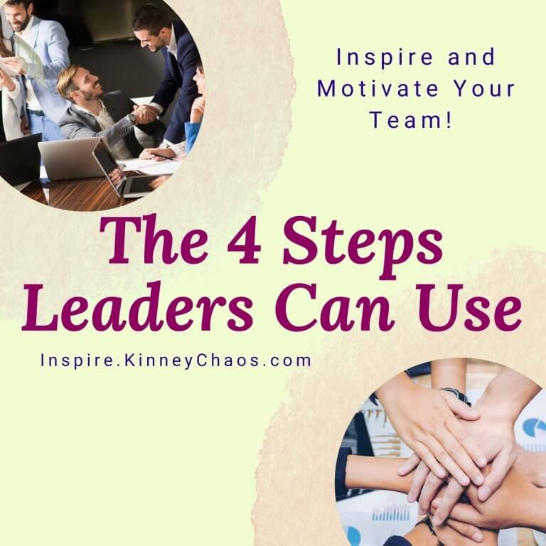 Inspire and Motivate Your Team! The 4 Steps Leaders Can Use
