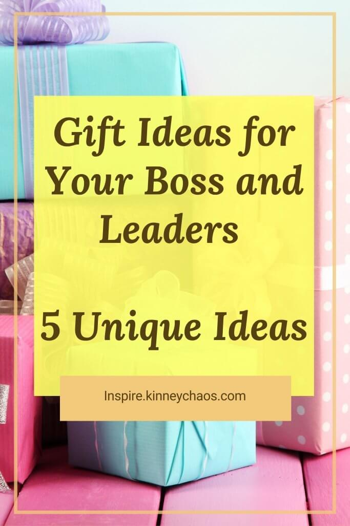 Whether you want to give your boss a gift that will show them how much they mean to you, or if you're looking for some new ideas on what type of gifts bosses typically receive, we've got five unique suggestions. Check out our rundown below!
