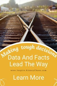 Railroad tracks are a cross roads that represents decision making. Letting facts and data guide you helps with all decisions.